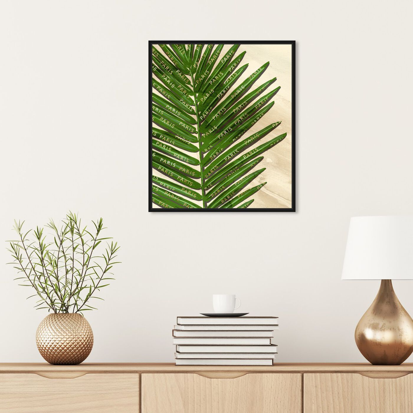 Hanging view of Paris Fashion Leaves featuring floral and botanical and botanicals art.
