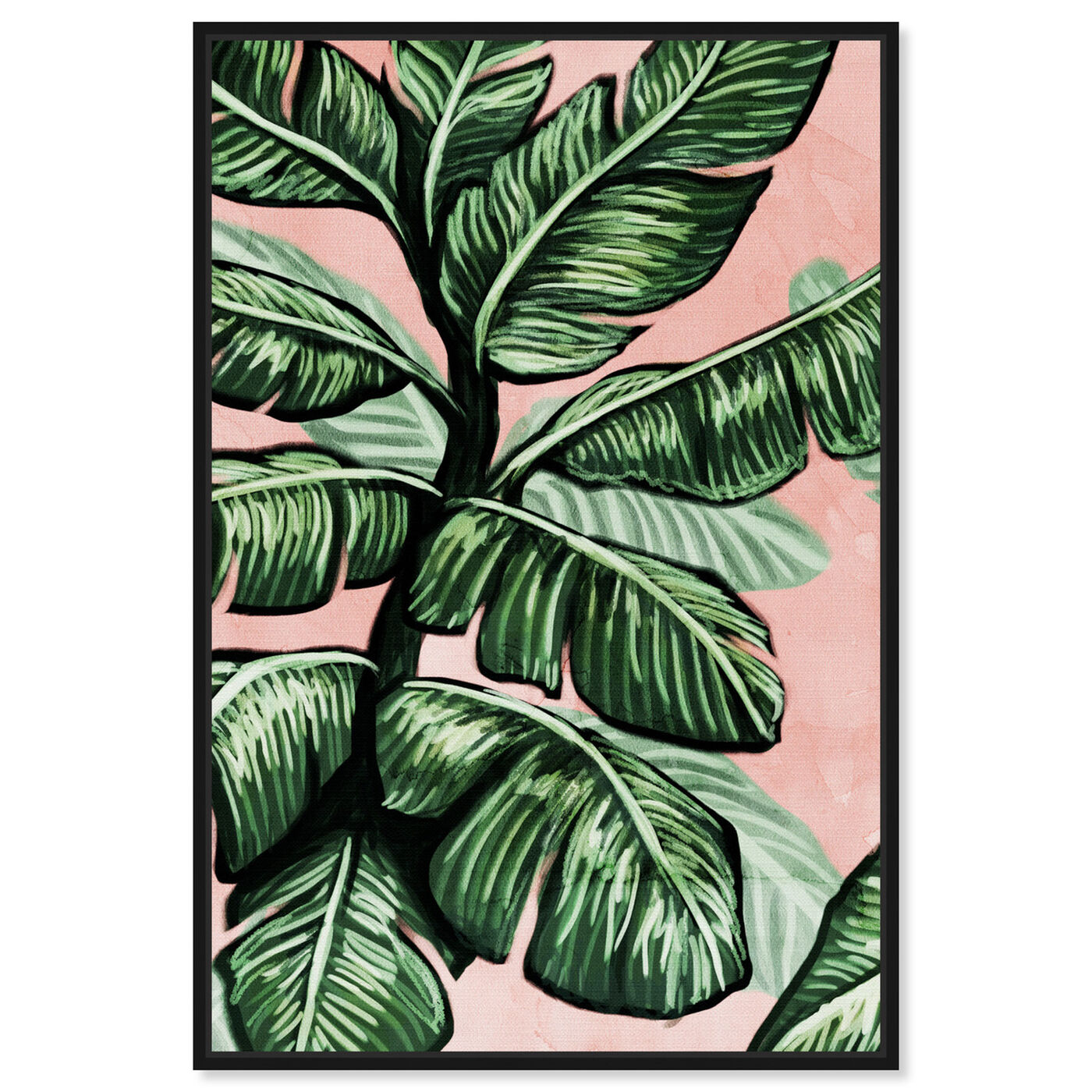 Front view of Blush Toned Leaves featuring floral and botanical and botanicals art.