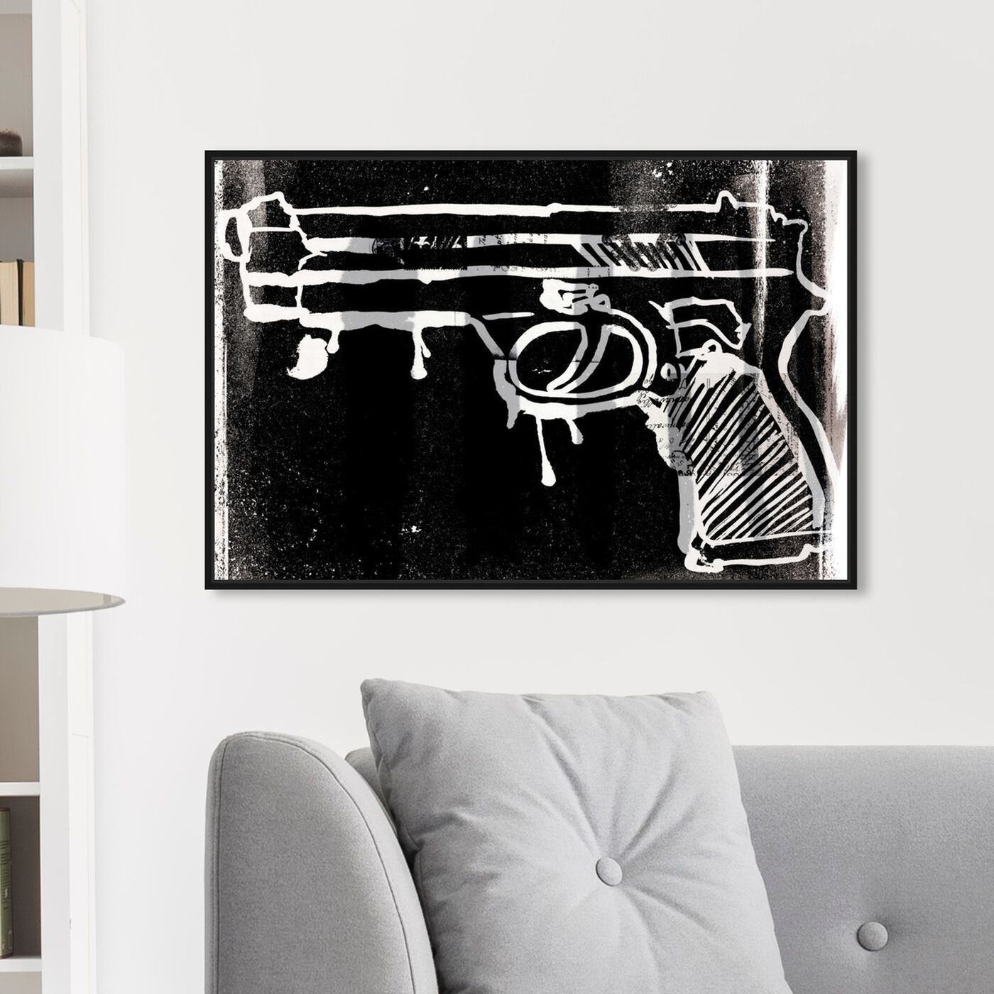 Hanging view of Easy Target featuring entertainment and hobbies and machine guns art.