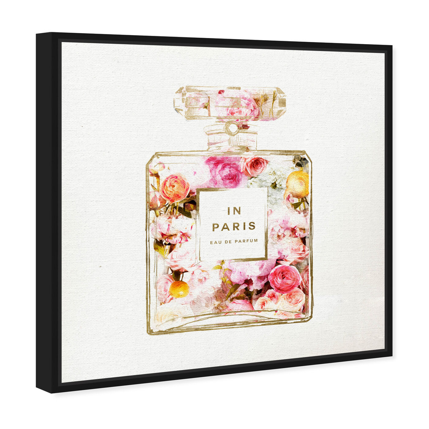 Angled view of Paris Floral Perfume featuring fashion and glam and perfumes art.