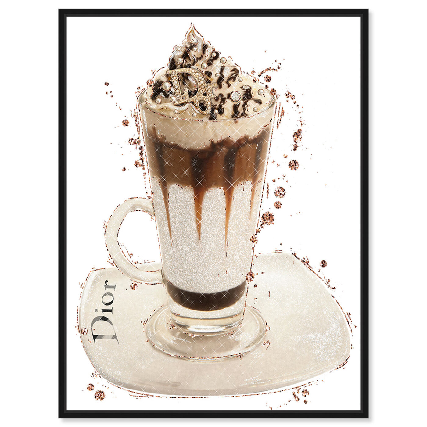 Front view of Vanilla Creamy Frappe featuring drinks and spirits and coffee art.