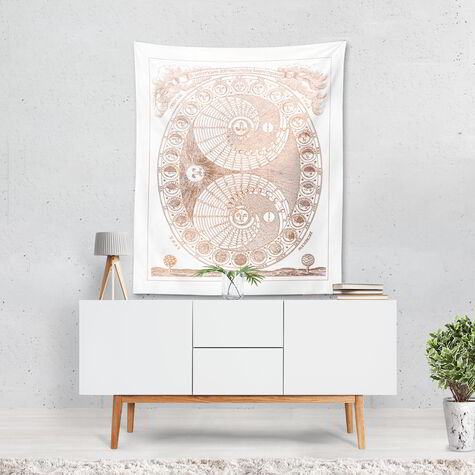 Moon Phases Tapestry Art