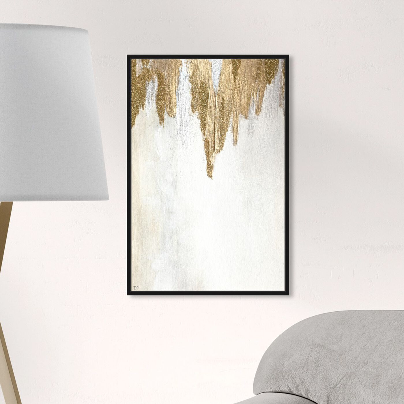 Hanging view of Very Golden featuring abstract and paint art.