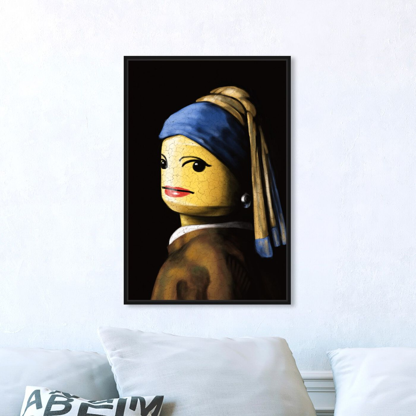 Hanging view of Toy with the Pearl Earring featuring classic and figurative and classic art.