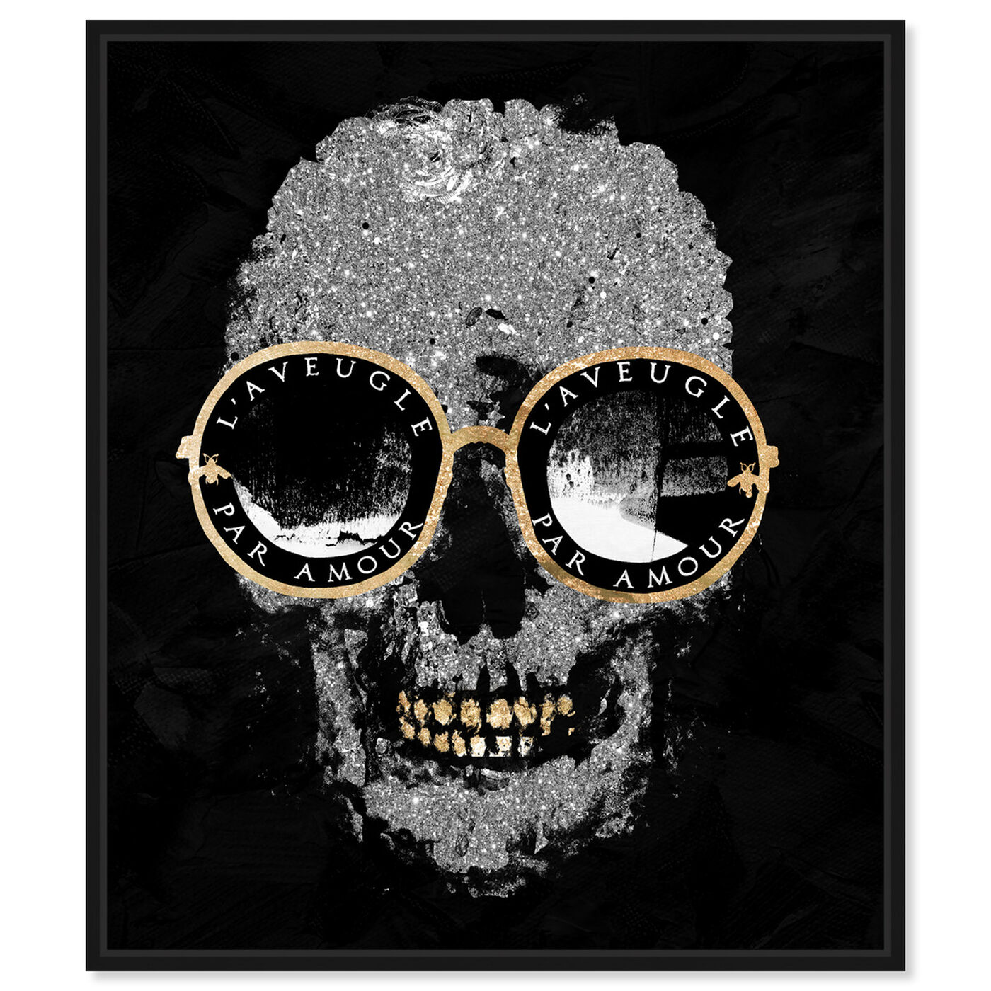 Front view of Razz-Dazz Denticles Shades and Skull featuring fashion and glam and accessories art.