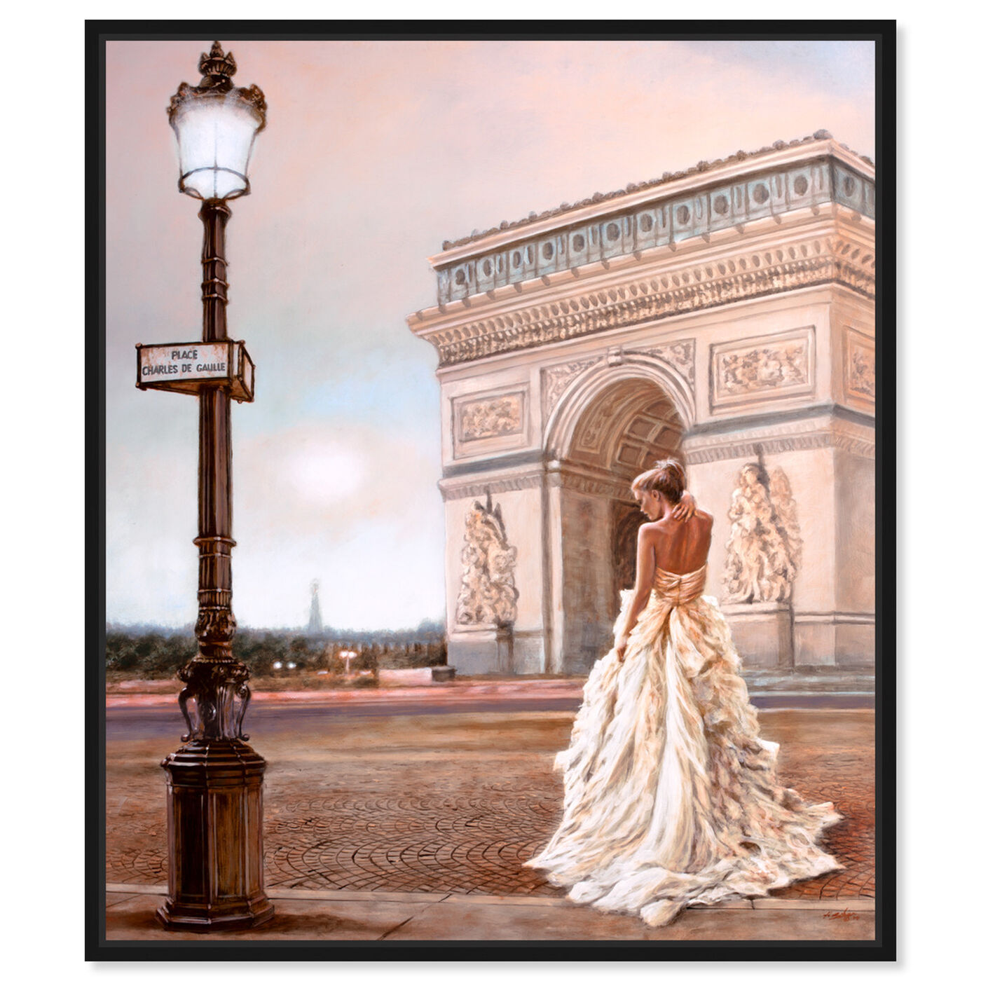 Front view of SAI - Gentle Sunset featuring fashion and glam and dress art.
