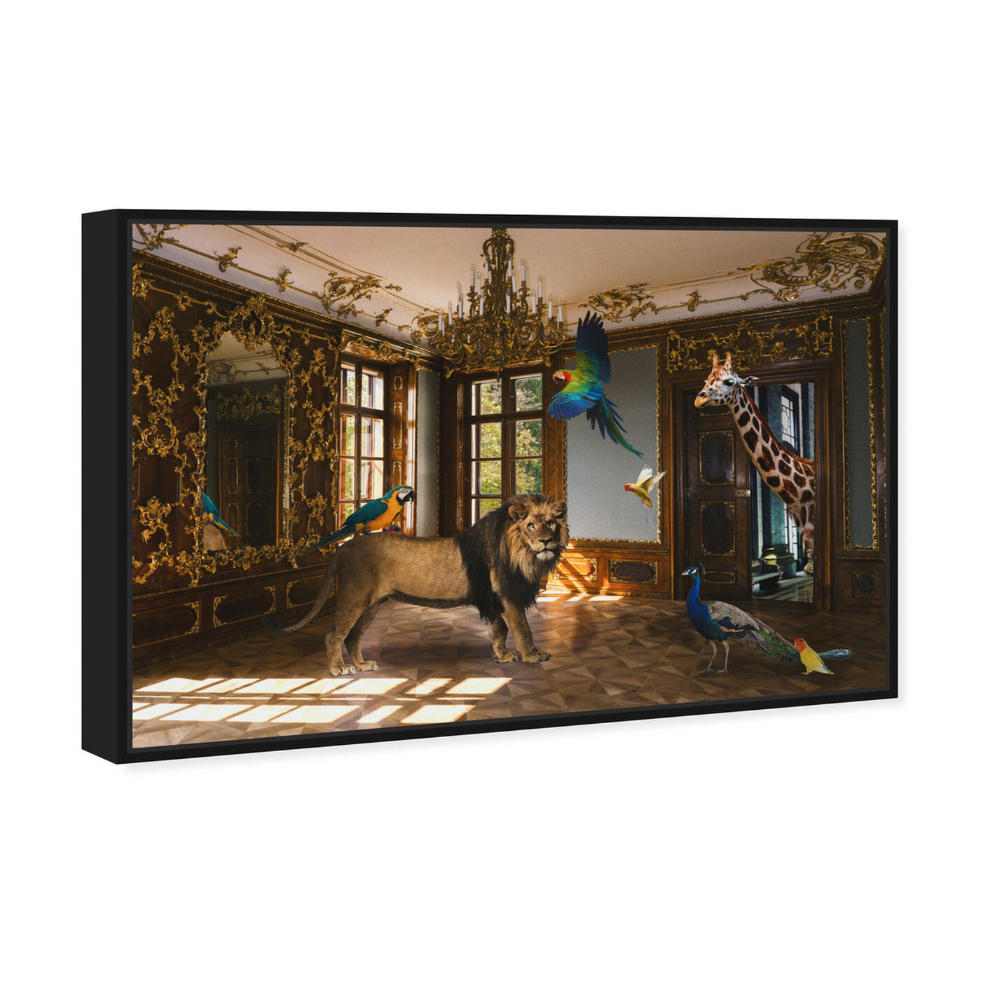 Angled view of Associates in Rococo featuring animals and zoo and wild animals art.