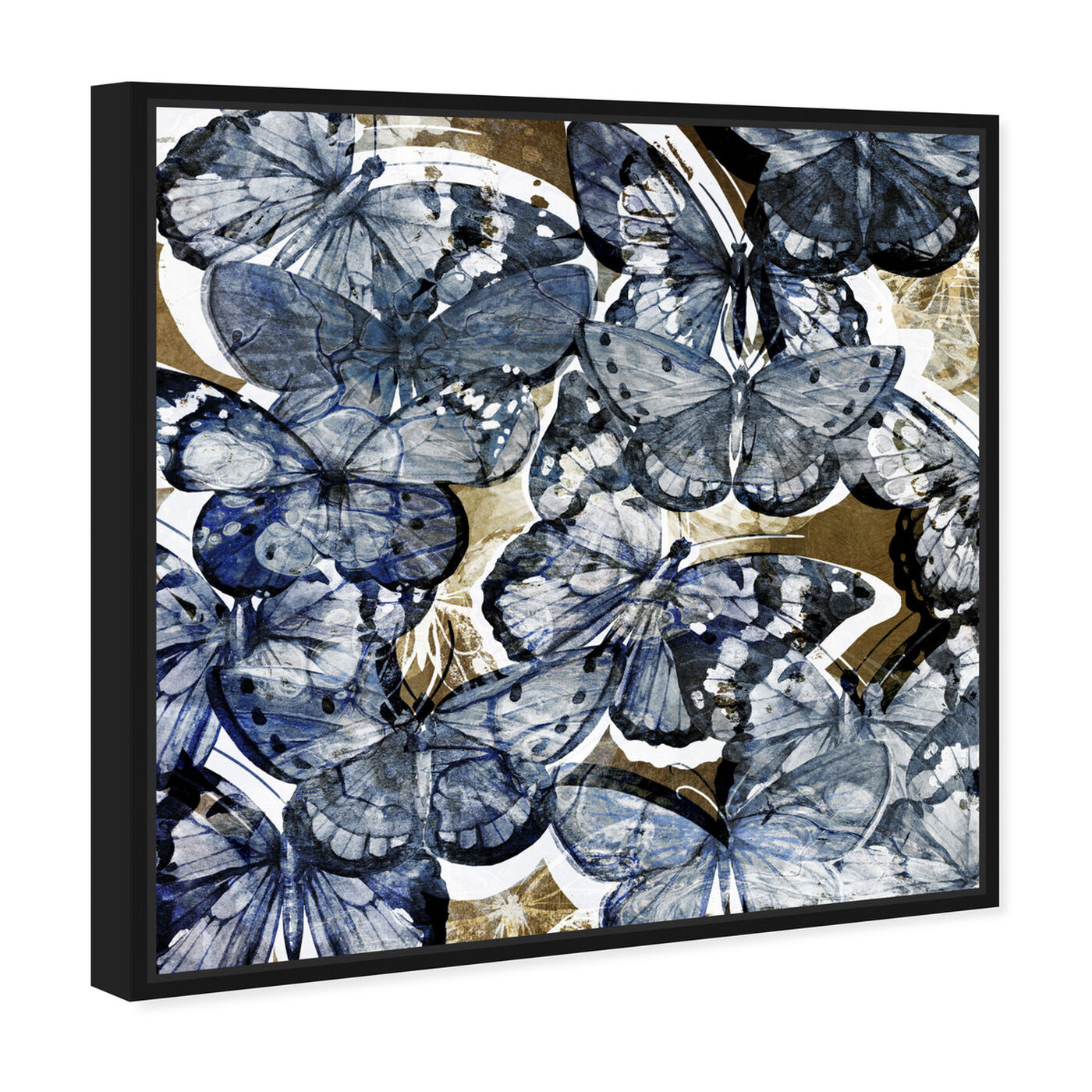 Angled view of Butterfly Lovers Blue featuring animals and insects art.