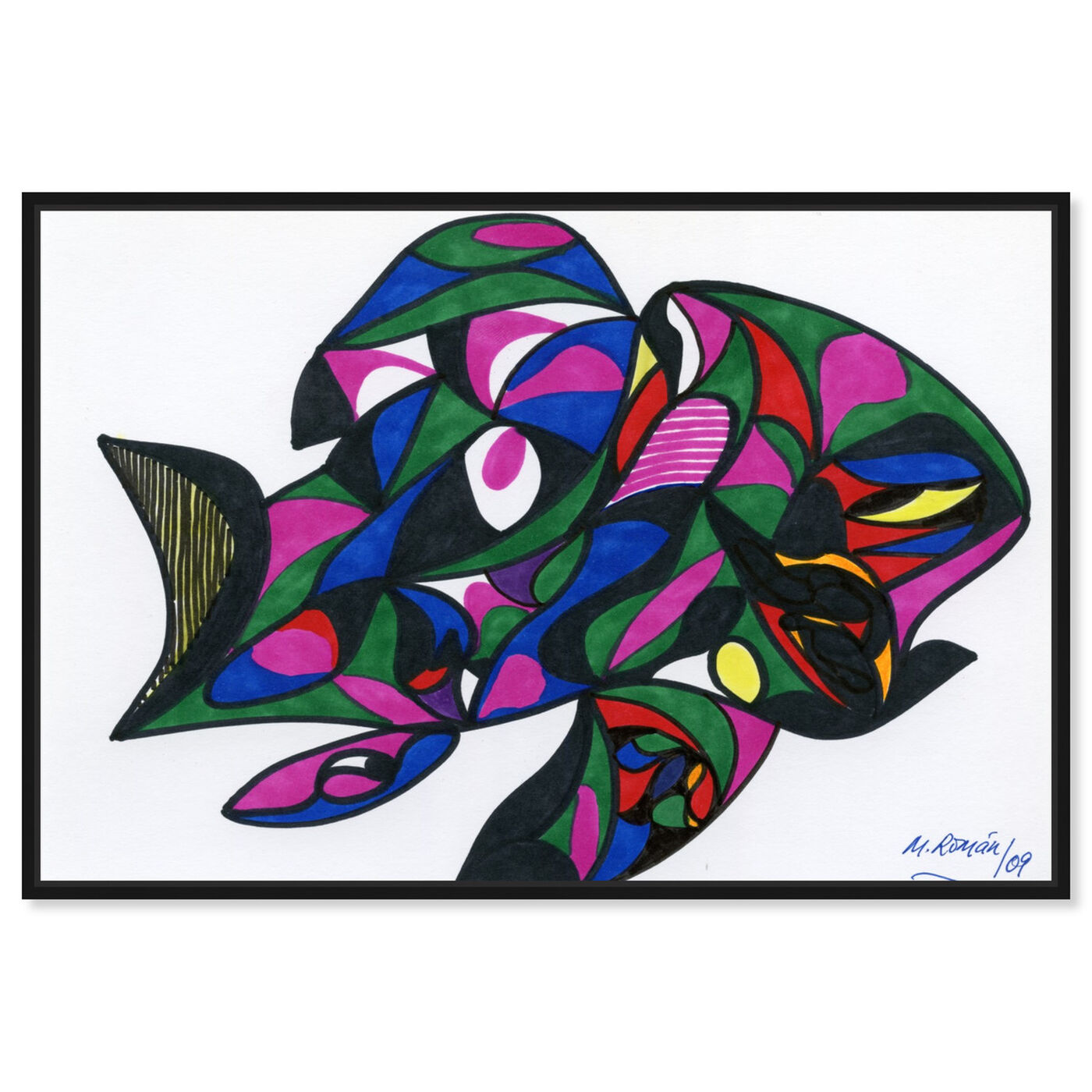 Front view of Colorful Goldfish featuring abstract and geometric art.