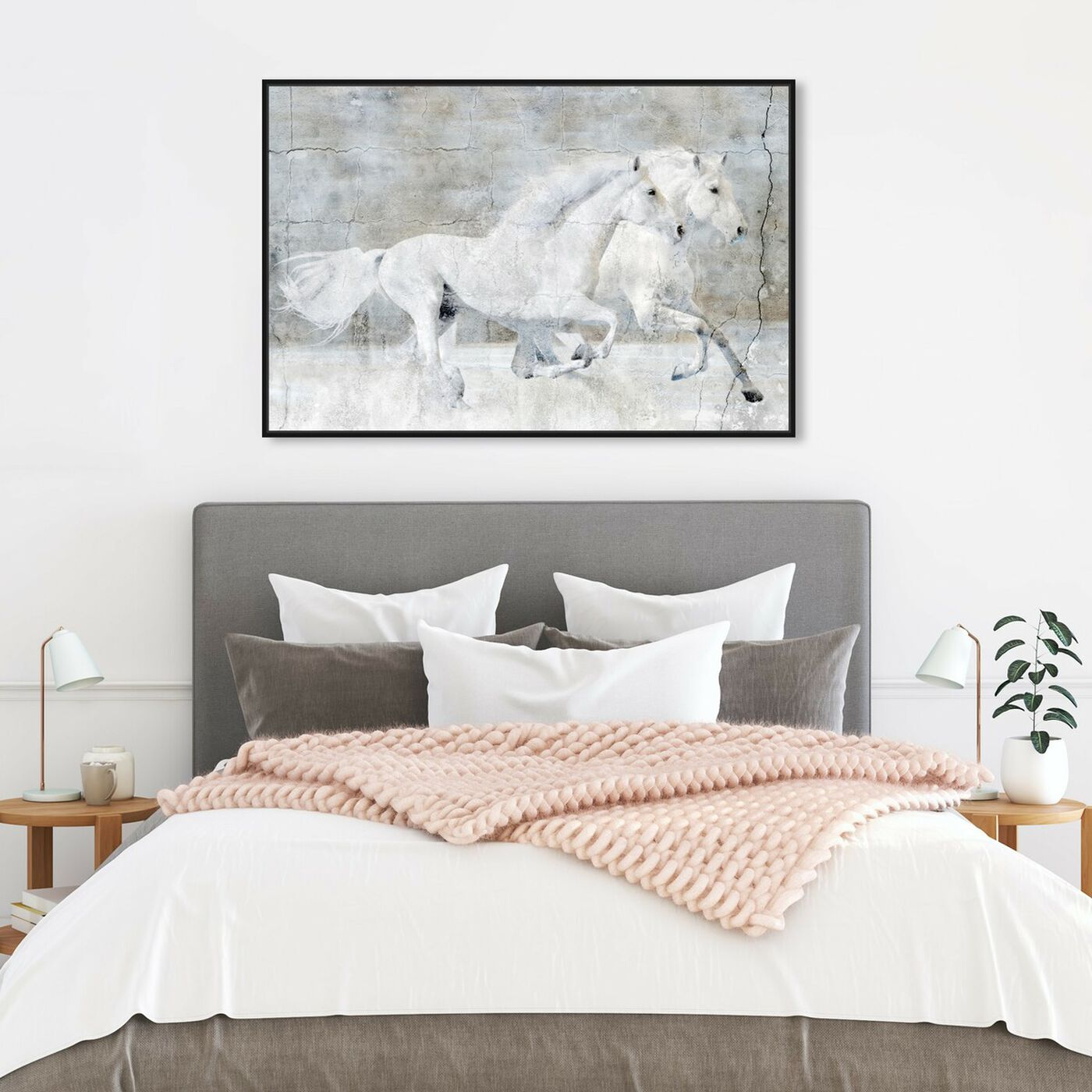 Hanging view of Running Wild featuring animals and farm animals art.