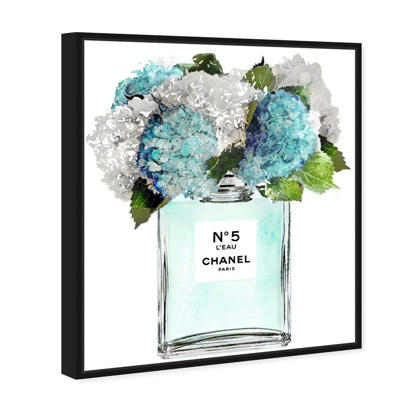 Angled view of Bright and Airy Garden Scent Blue featuring fashion and glam and perfumes art.