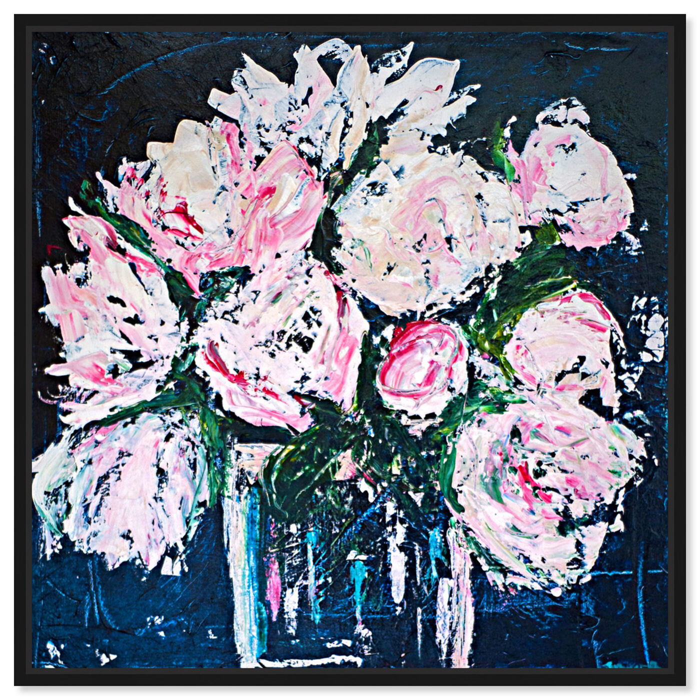 Front view of Peonies by The Bucket by Claire Sower featuring floral and botanical and florals art.