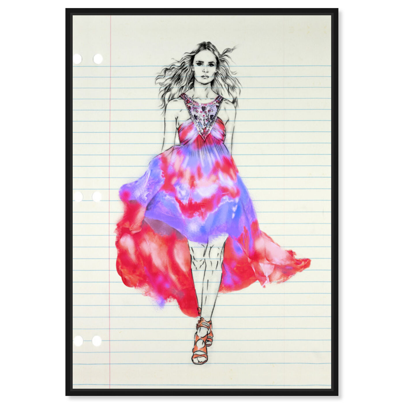 Front view of Fashion Illustration 1 featuring fashion and glam and dress art.