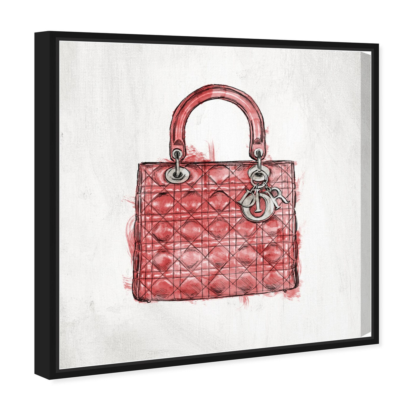 Angled view of Christian's Essentials Red featuring fashion and glam and handbags art.