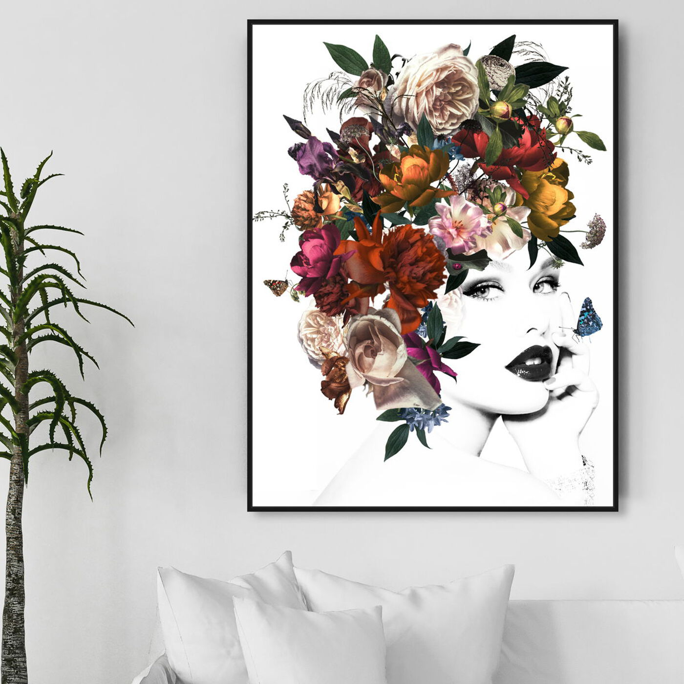 Hanging view of Queen Flora featuring fashion and glam and portraits art.