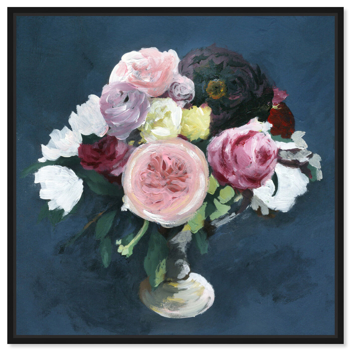 Front view of Night Bouquet Blue featuring floral and botanical and florals art.