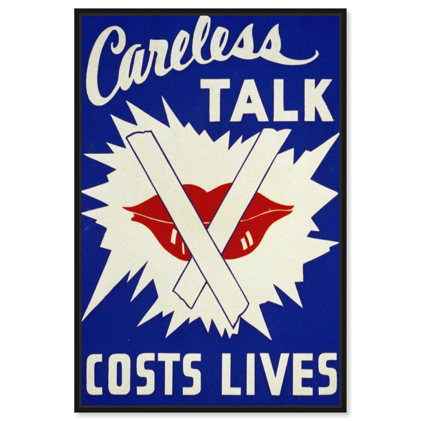 Front view of Careless Talk featuring advertising and posters art.
