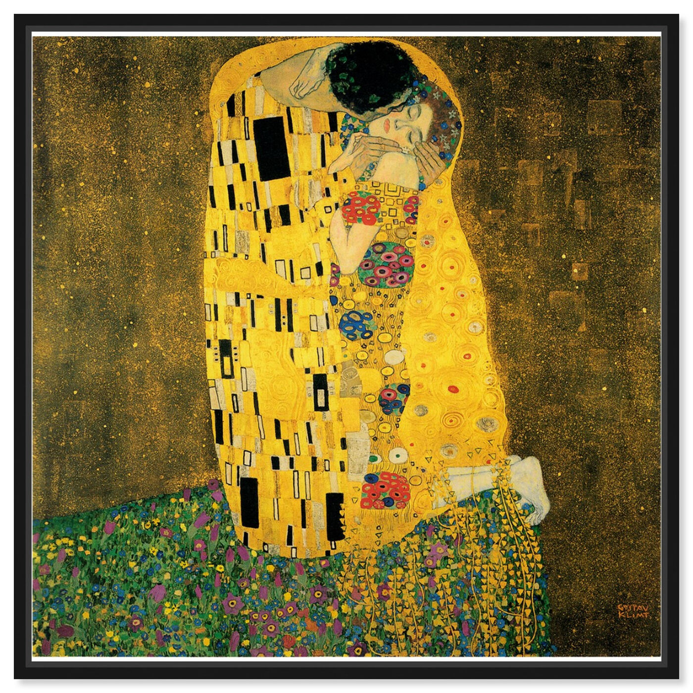 Front view of Klimt - The Kiss featuring classic and figurative and classic art.