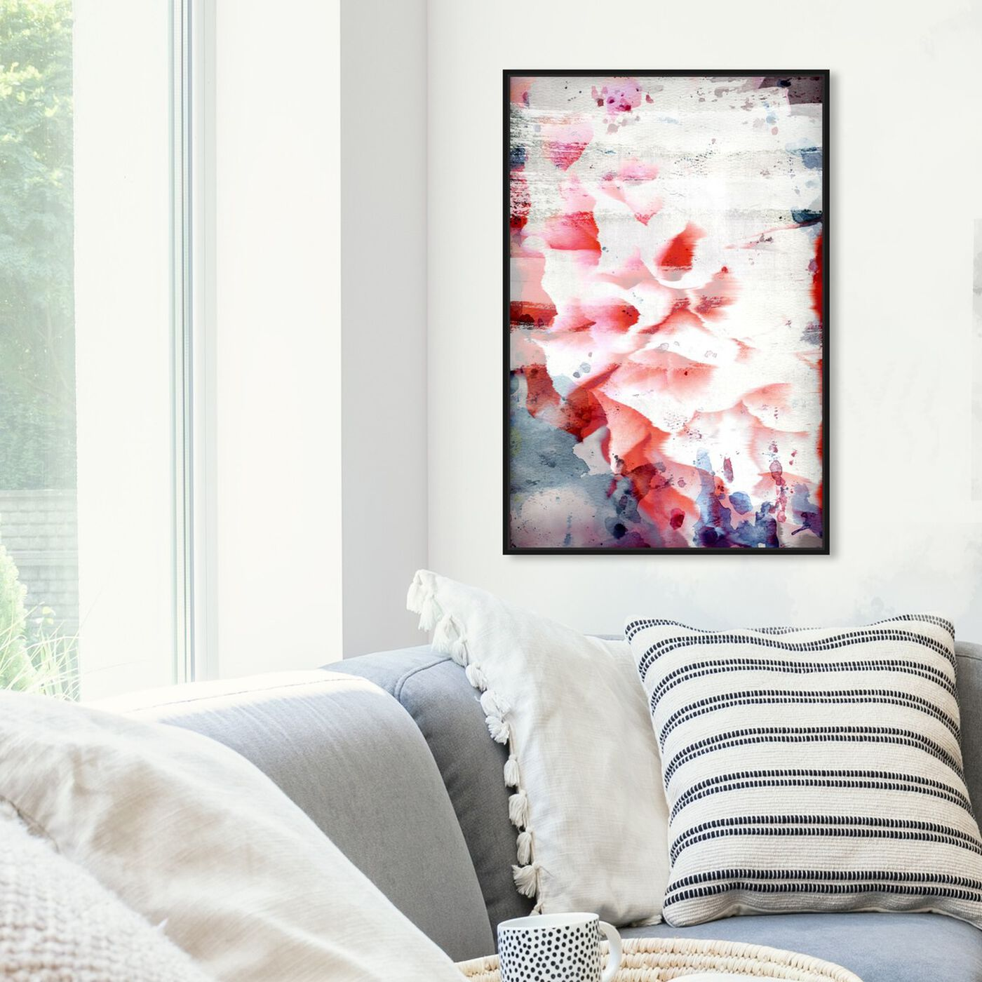 Hanging view of Midnight Bloom featuring floral and botanical and florals art.