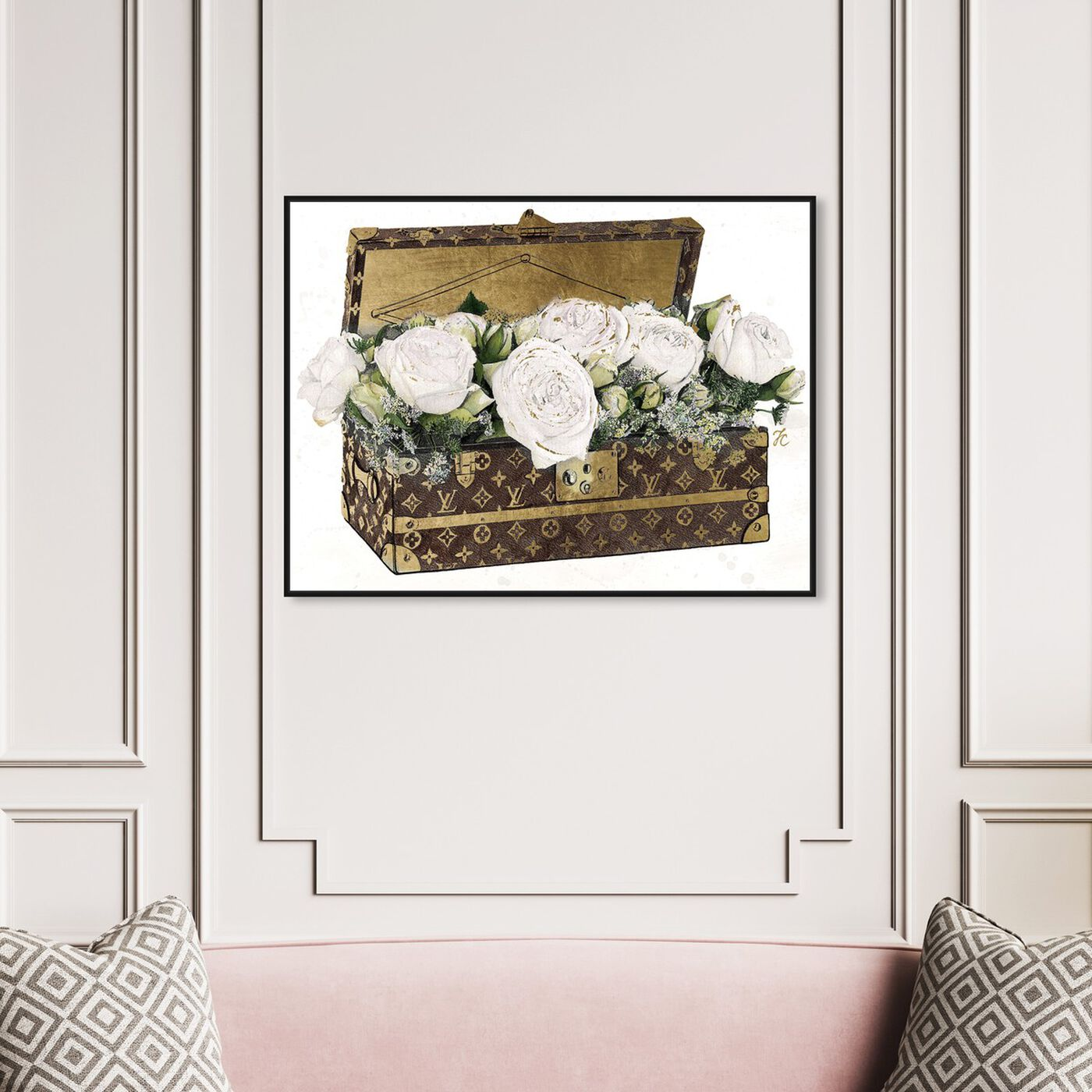 Hanging view of Doll Memories - Trunk of Roses Eclair featuring fashion and glam and travel essentials art.