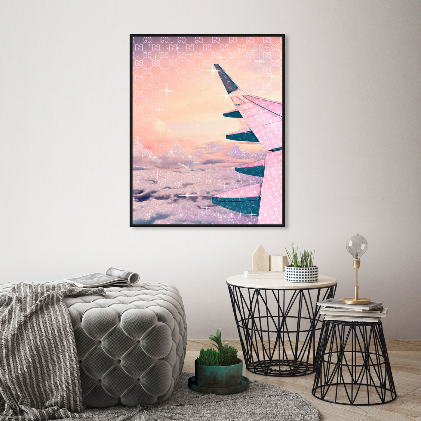 Hanging view of Taupe Horizon featuring transportation and airplanes art.