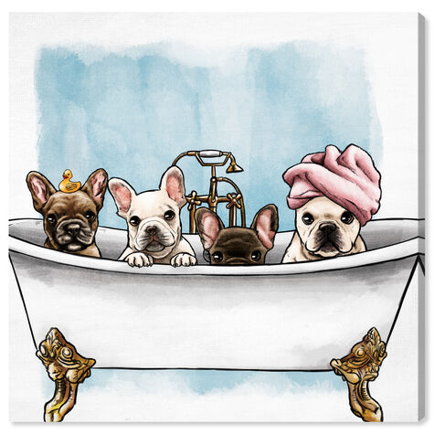 Frenchies In The Tub