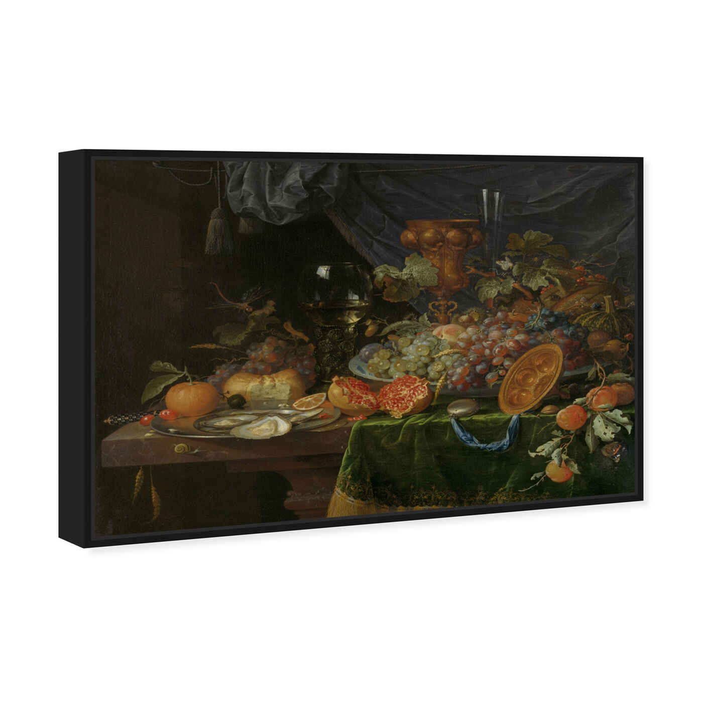 Angled view of Fruit Arrangement - The Art Cabinet featuring classic and figurative and realism art.