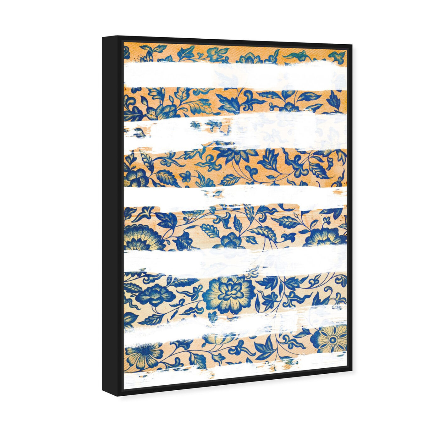 Angled view of Vintage Strokes featuring abstract and flowers art.