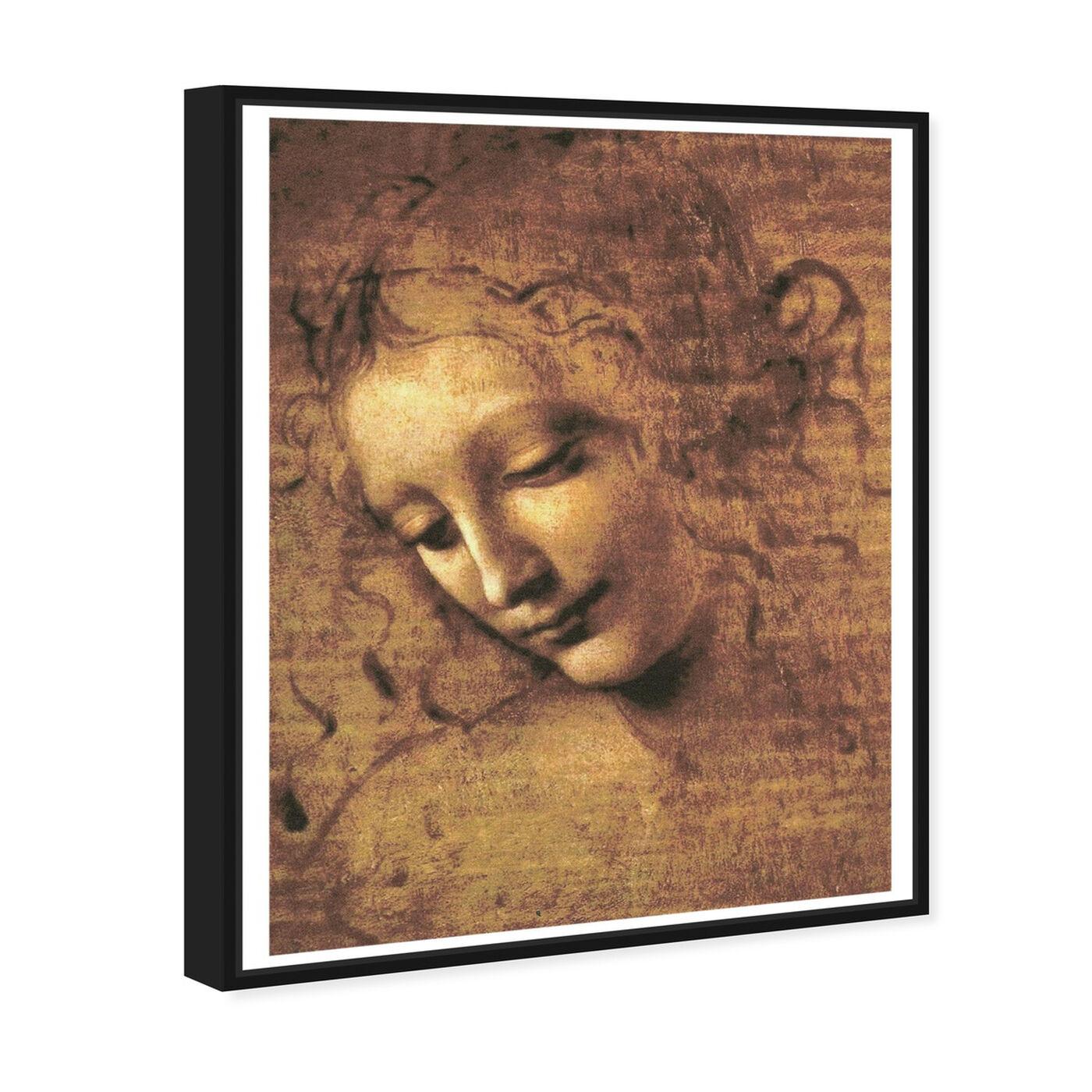 Angled view of Leonardo Da Vinci - Female Head featuring classic and figurative and renaissance art.