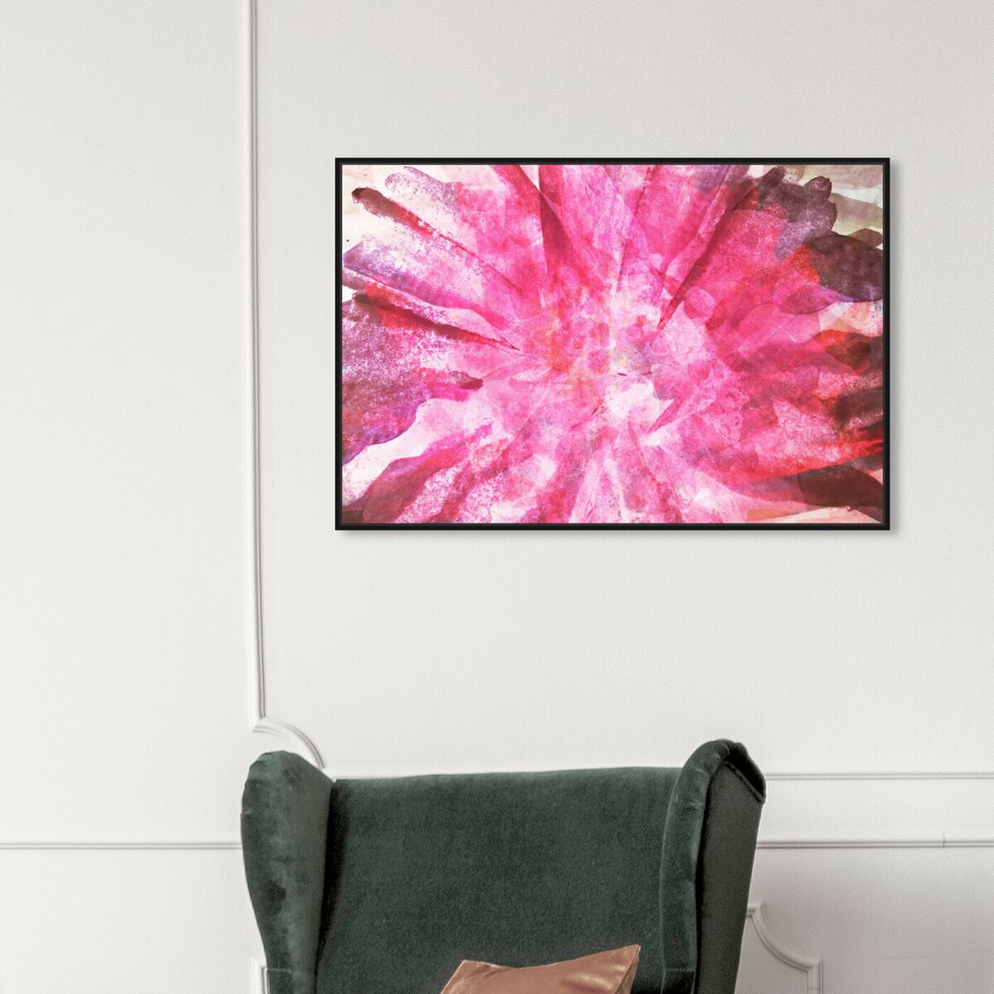 Hanging view of Nelumbo - Signature Collection featuring abstract and watercolor art.