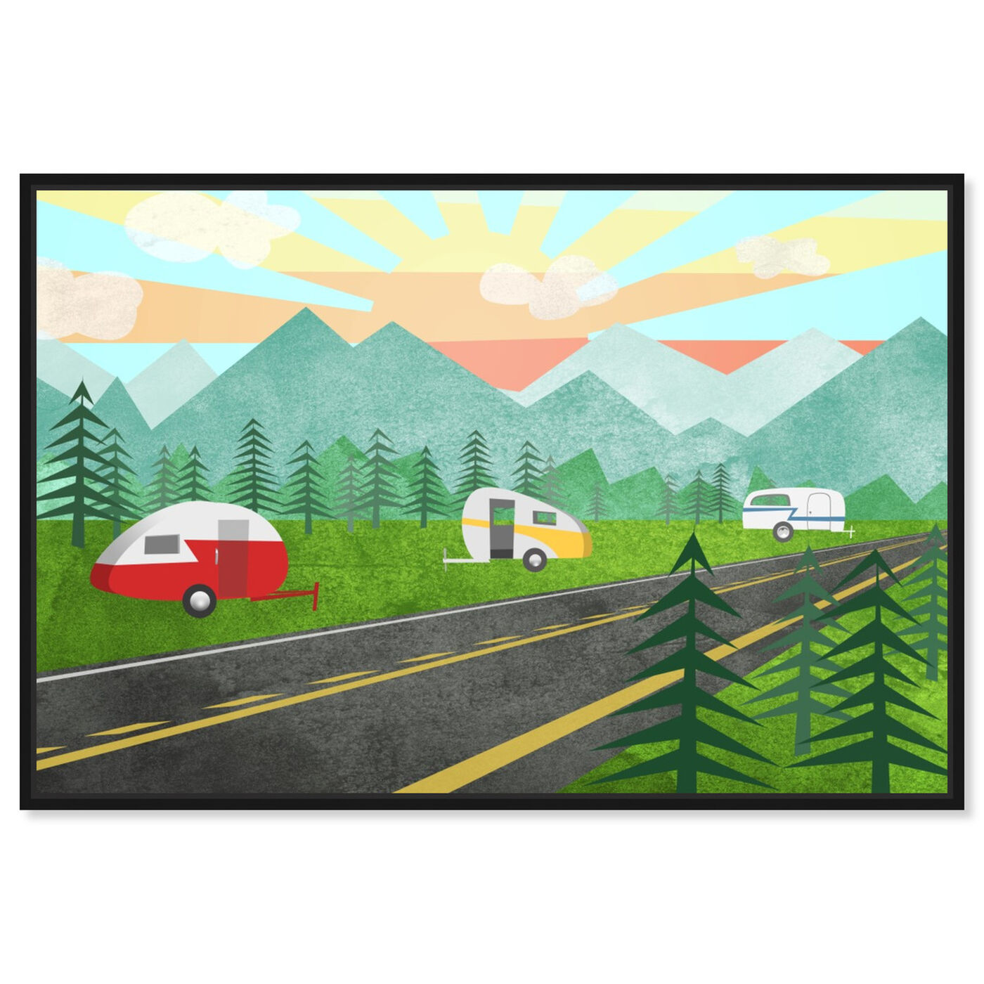 Front view of Campers In the Wild featuring entertainment and hobbies and camping art.