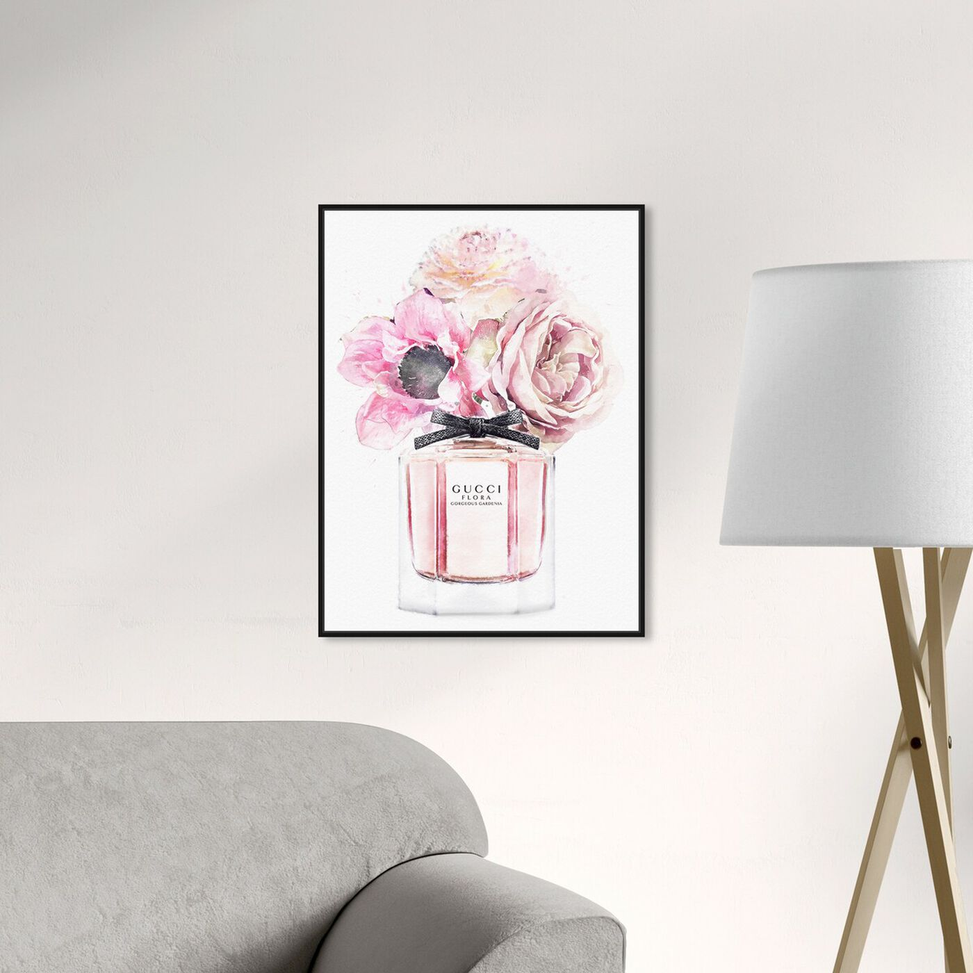 Hanging view of Gorgeous Gardenia Perfume featuring fashion and glam and perfumes art.