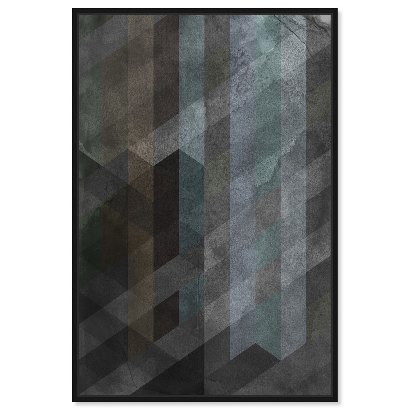 Front view of Steel featuring abstract and textures art.