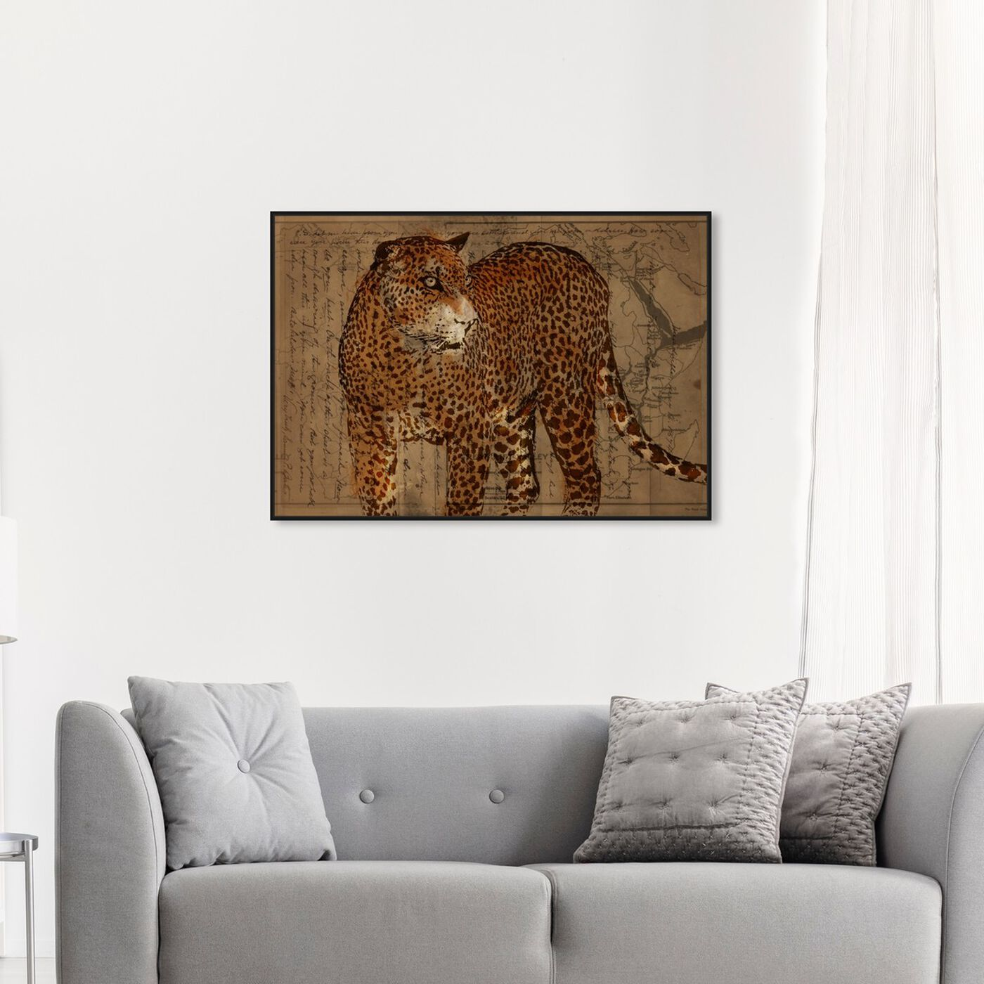Hanging view of Hunter featuring animals and felines art.