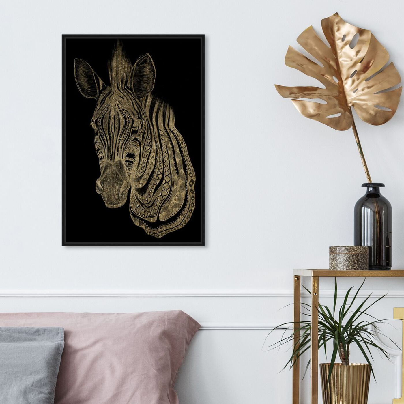 Hanging view of Zebra featuring animals and zoo and wild animals art.
