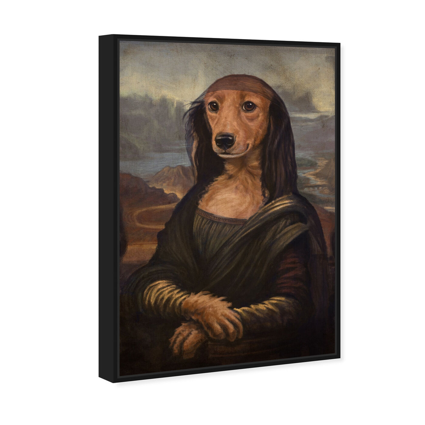 Angled view of Mutt-a-Lisa By Carson Kressley featuring animals and dogs and puppies art.