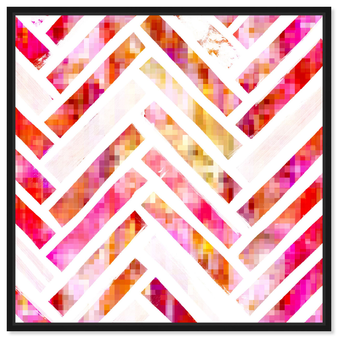 Front view of Sugar Flake Herringbone featuring abstract and patterns art.