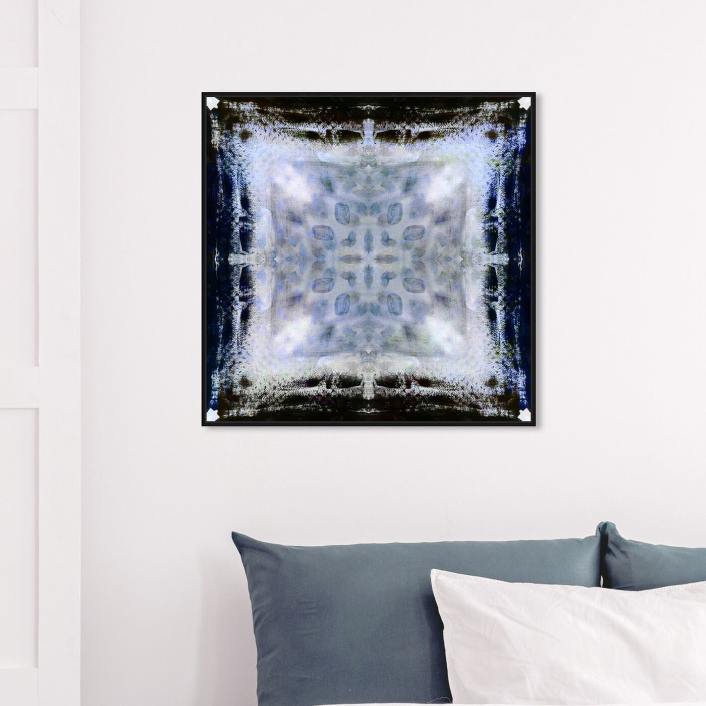 Hanging view of Isela featuring abstract and patterns art.
