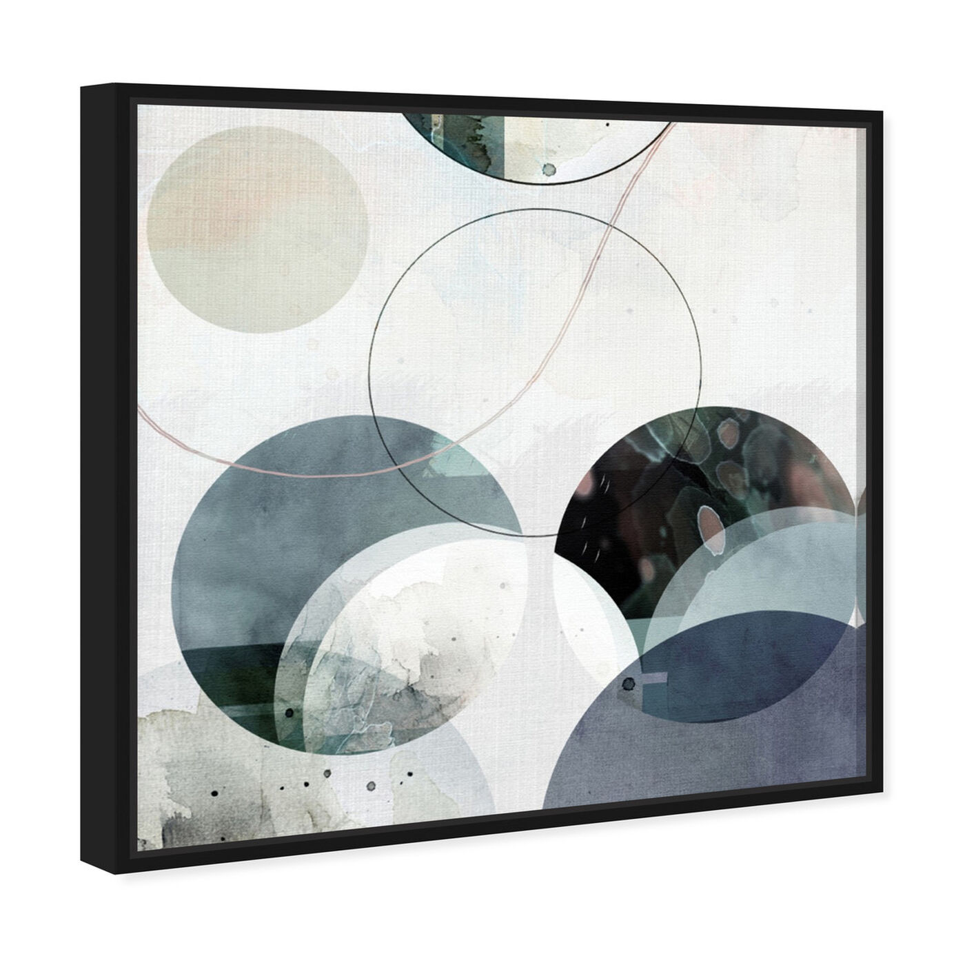 Angled view of River Stones featuring abstract and geometric art.