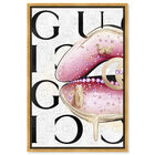 Front view of Haute Up featuring fashion and glam and lips art. image number null