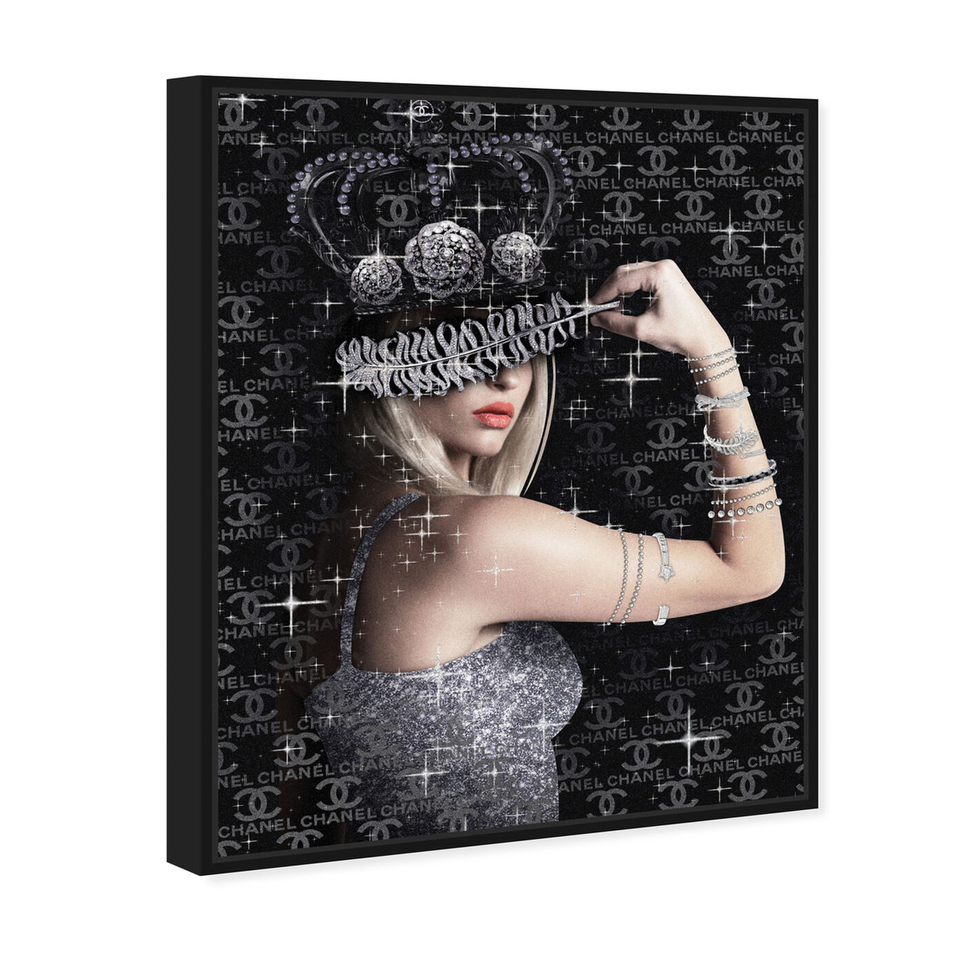 Angled view of Diamond Queen featuring fashion and glam and runway art.