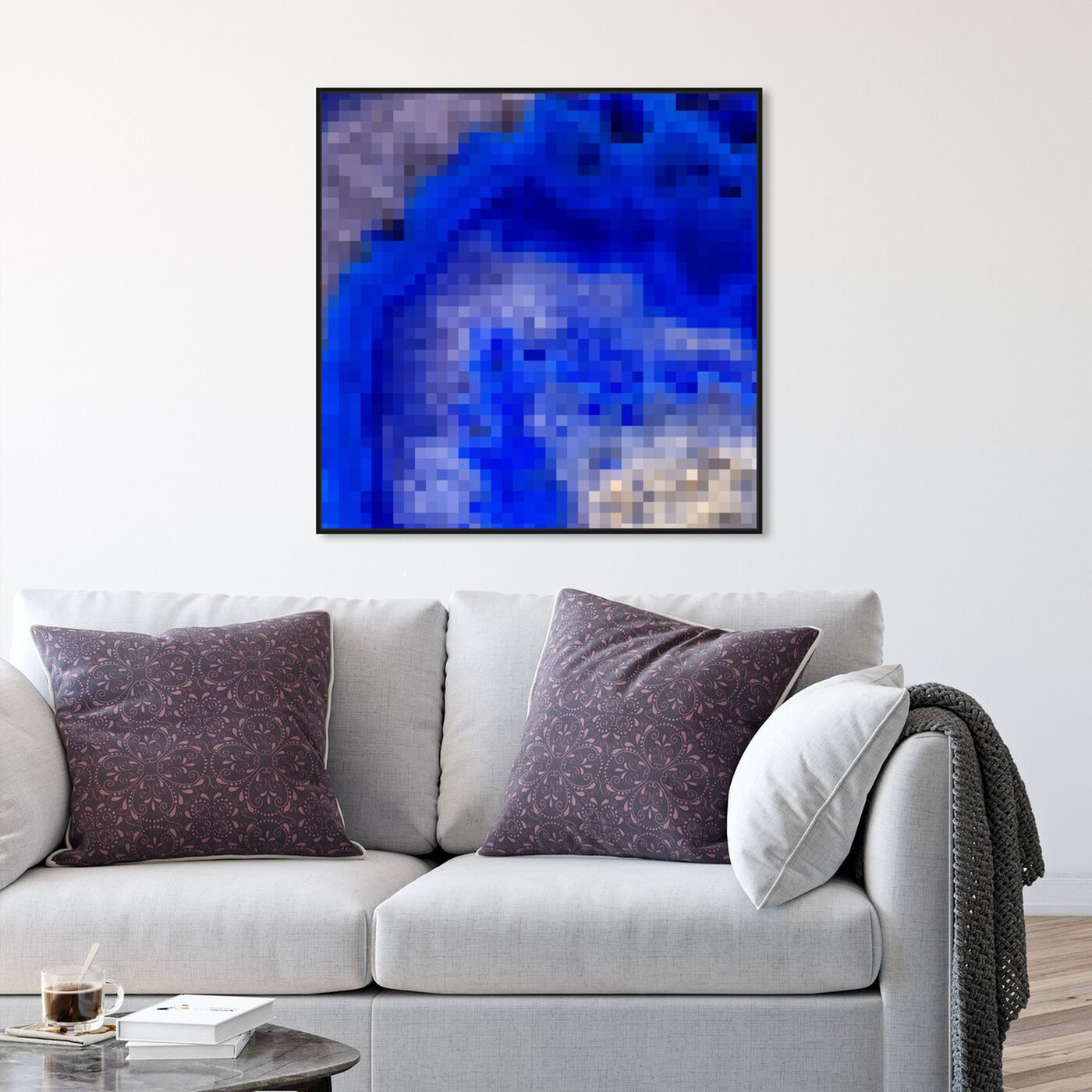 Hanging view of Agate Pixel featuring abstract and crystals art.