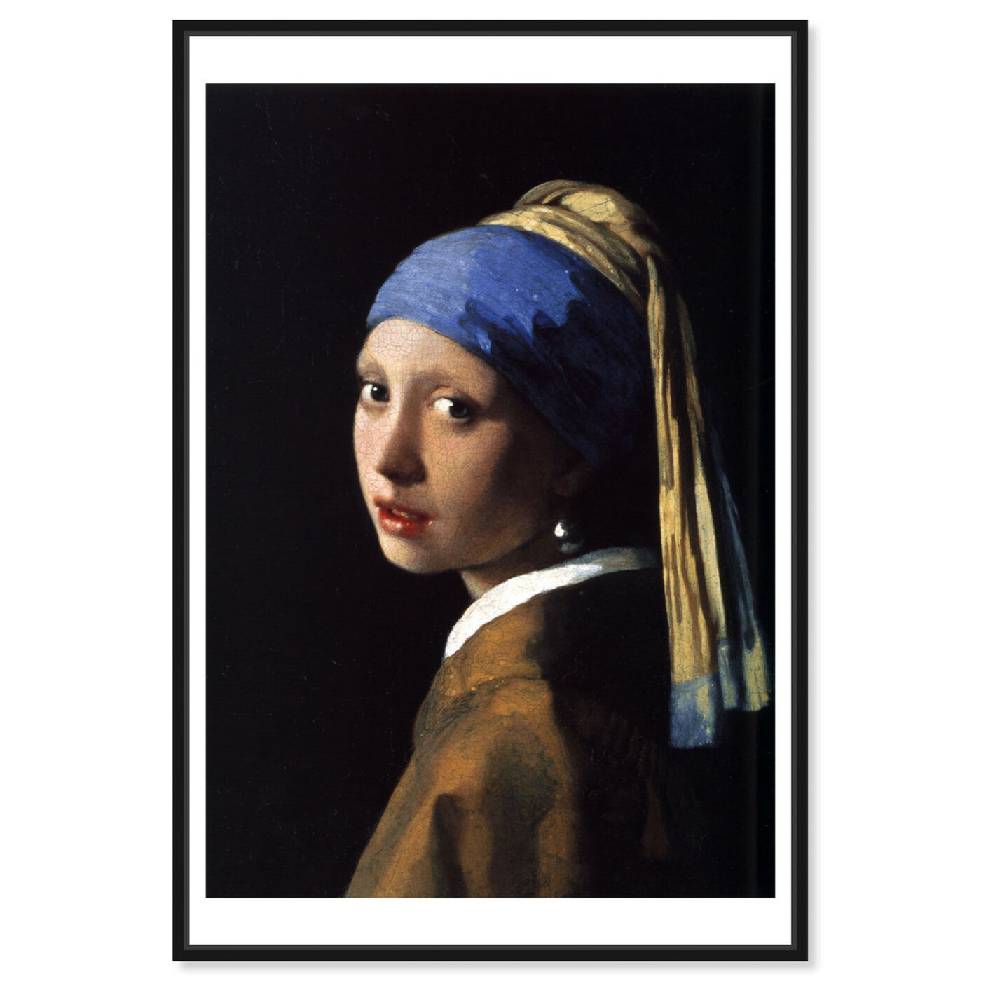 Front view of Vermeer - Girl With The Pearl Earring featuring classic and figurative and renaissance art.