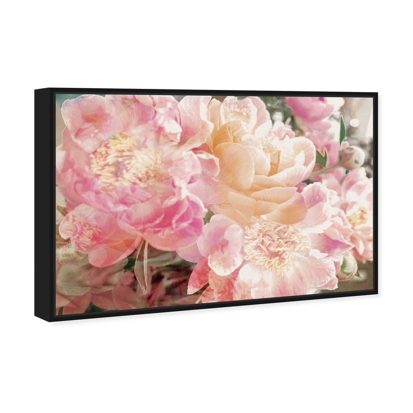 Angled view of Peonies Know featuring floral and botanical and florals art.