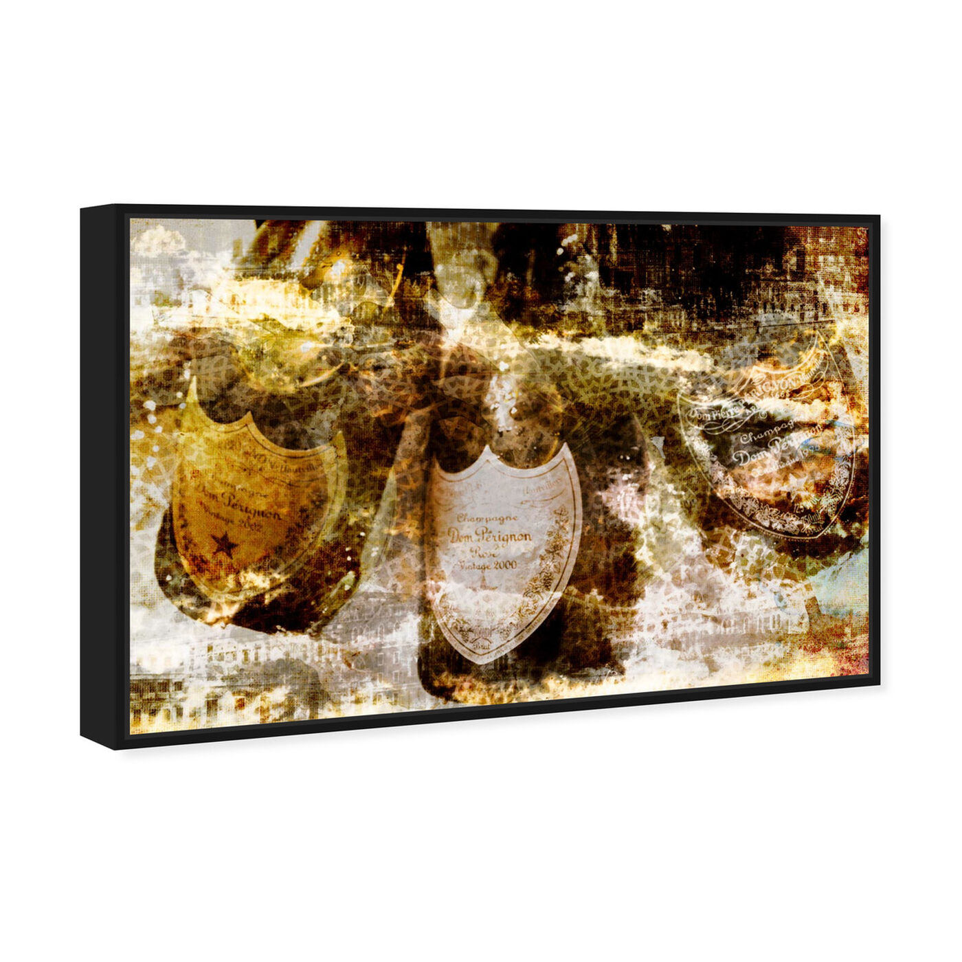 Angled view of Champagne Bath Brass featuring drinks and spirits and champagne art.