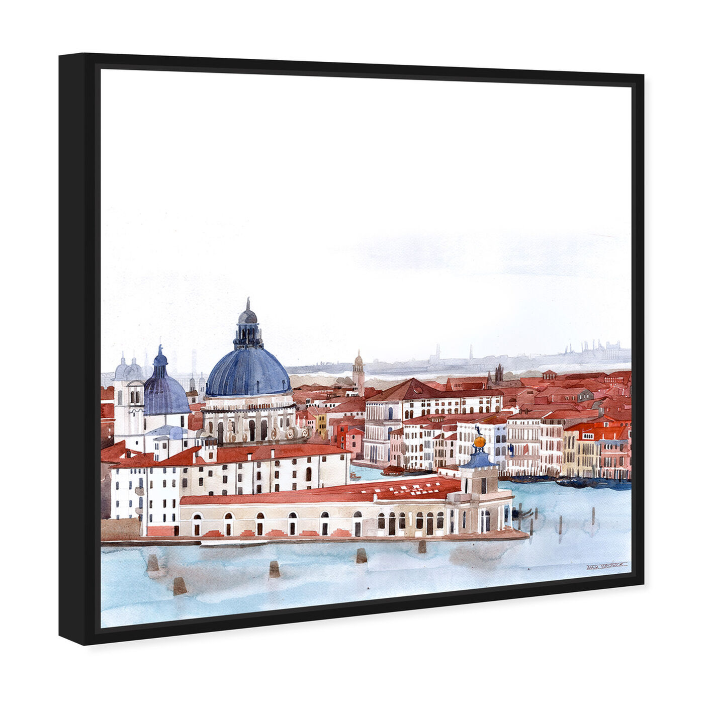 Angled view of Maja Wronska - Waterfront Vista Clear II featuring nautical and coastal and coastal landscapes art.