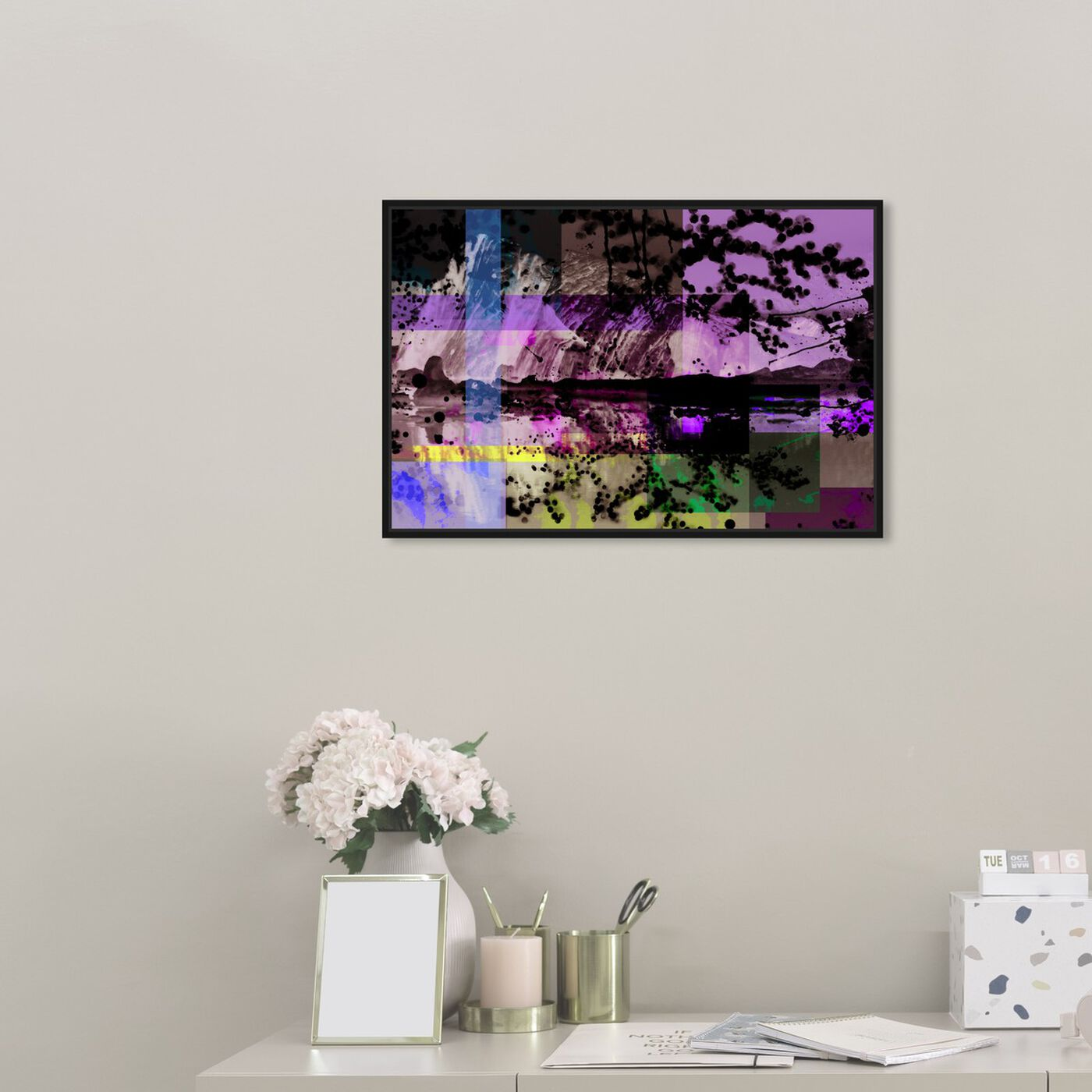 Hanging view of Majestic Ice featuring nature and landscape and snowscapes art.