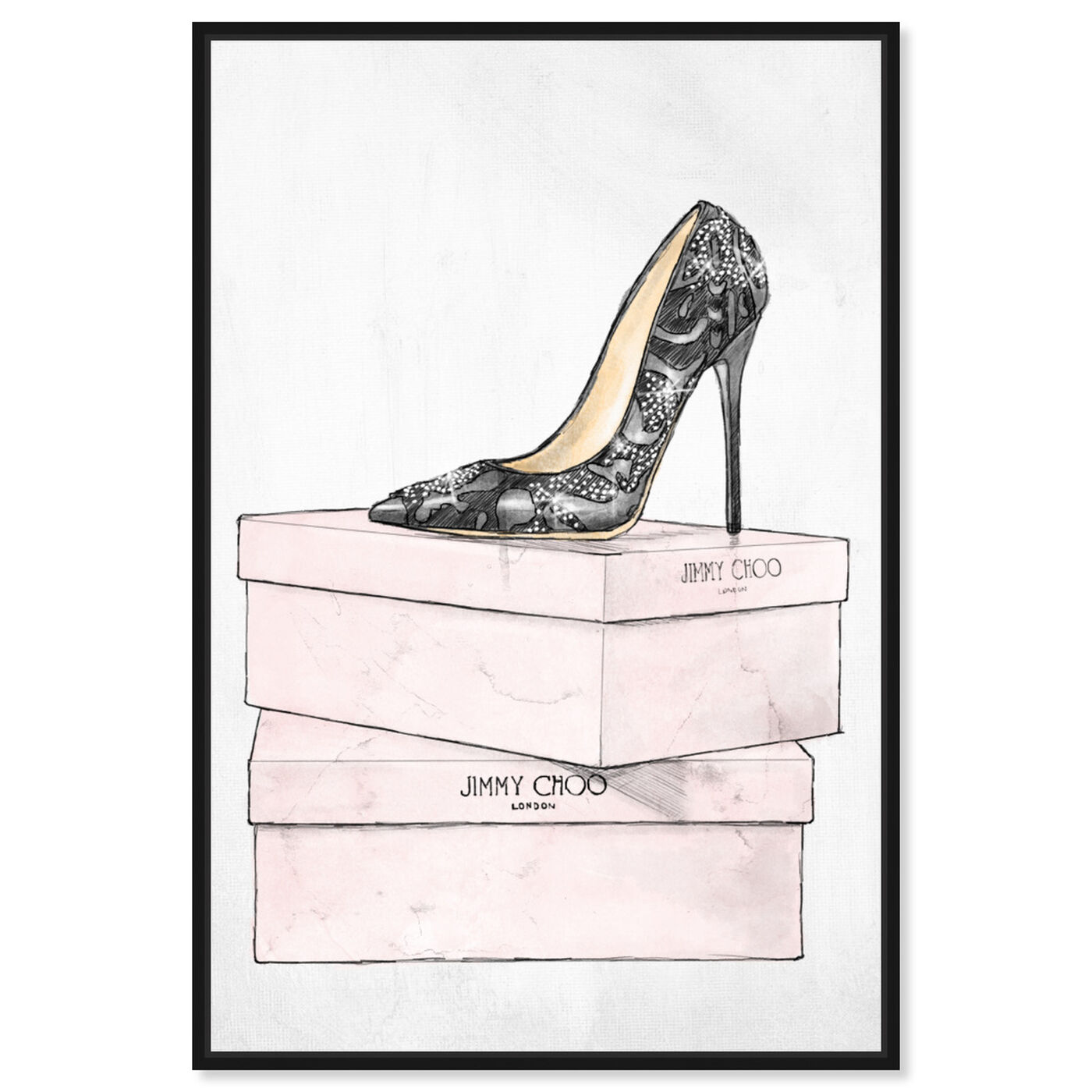 Front view of The One and Only featuring fashion and glam and shoes art.