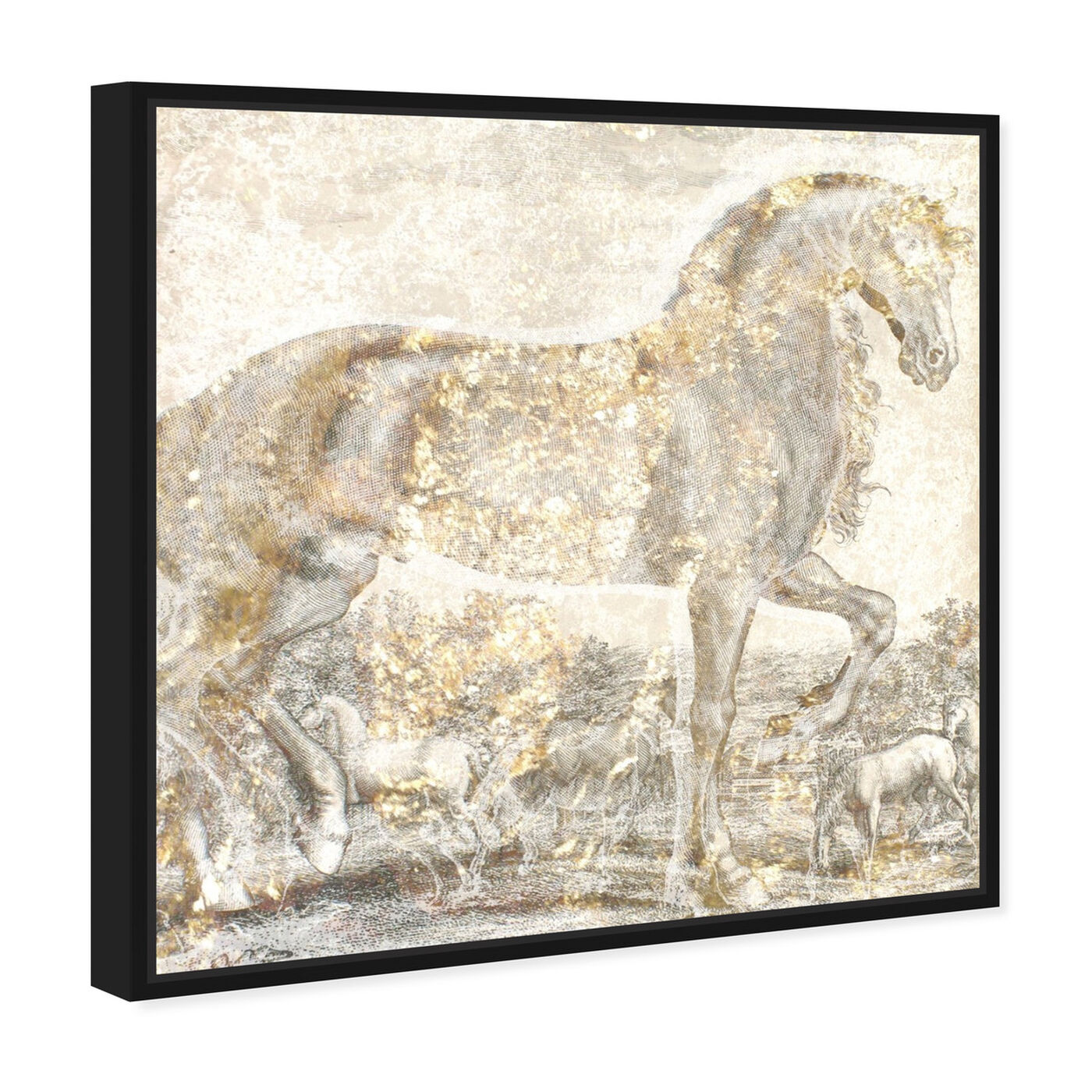Angled view of Brilliant Equestrian featuring animals and farm animals art.
