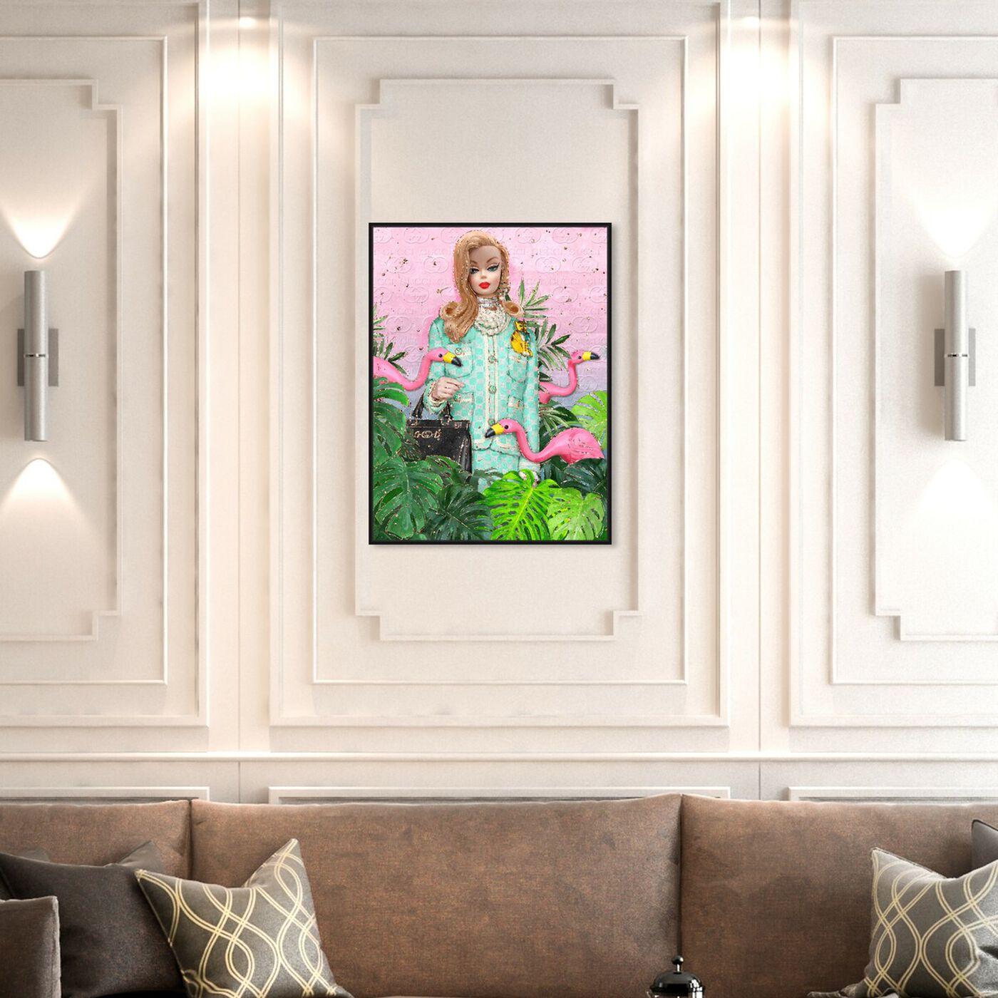 Hanging view of Take A Trip art.